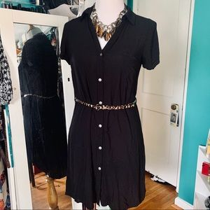 Black Shirt Dress and belt size small